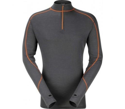 Bluza First-Layer Trekmates Merino Contrast Zip Top M Gri / Portocaliu