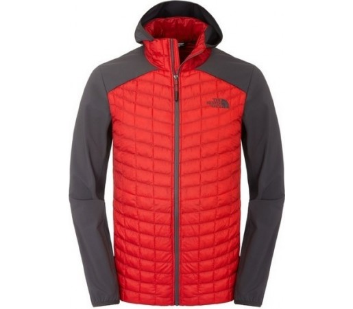 Geaca The North Face M Thermoball Hybrid Hoodie Rosu/Gri