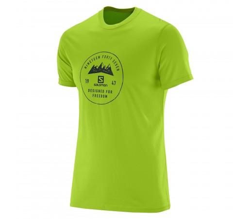 Tricou Salomon Mount Sign SS Cotton Tee M Verde