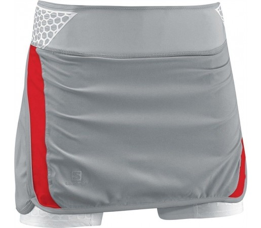Pantalon/ Fusta Compresie Salomon S-Lab Exo Twinskin Skort Grey
