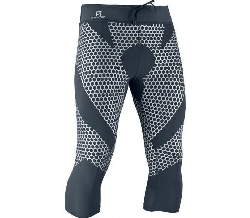 Pantaloni Compresie Salomon EXO 3/4 TIGHT M Grey- Silver