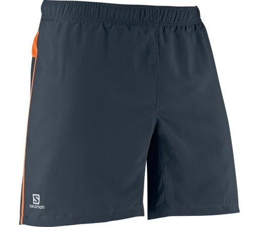 Pantaloni Scurti Salomon M Trail Dark Cloud- Orange