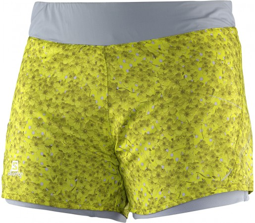 Pantaloni scurti Salomon Park 2in1 Short W Galben/Turcoaz