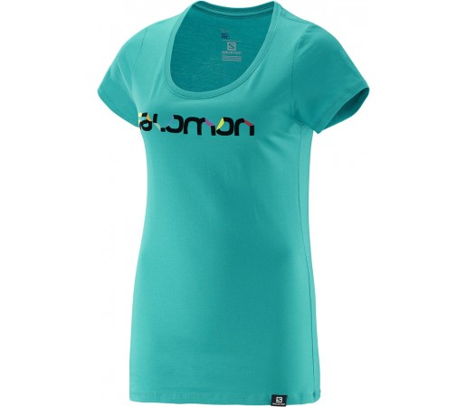 Tricou Salomon Pleatplease SS Cotton Tee W Turcoaz