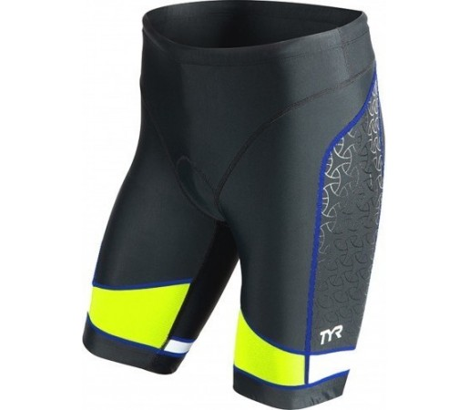 "Costum Triatlon Tyr Competitor 9"" Negru/ Lime/ Albastru"
