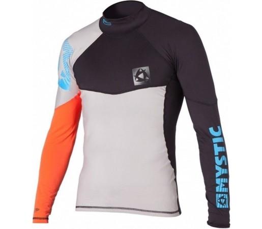 Bluza cu protectie UV Mystic Crossfire Rashvest LS Alb/Portocaliu/Negru