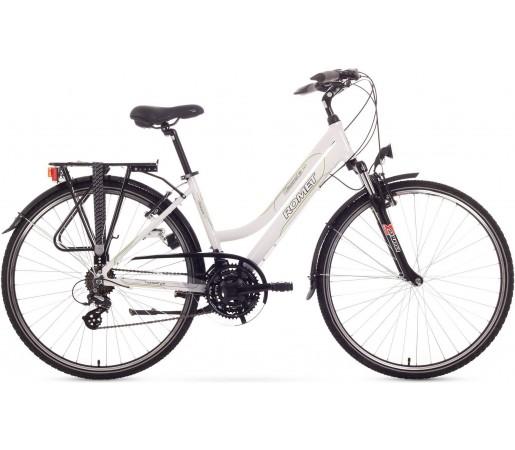 Bicicleta trekking Romet Gazela 1.0 Alb