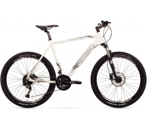 Bicicleta de munte Romet Rambler 26 5.0 Alb/Gri