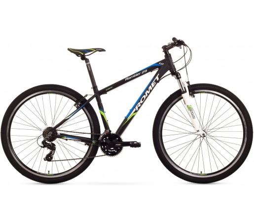 Bicicleta de munte Romet Rambler 29 1.0 Negru/Verde/Albastru