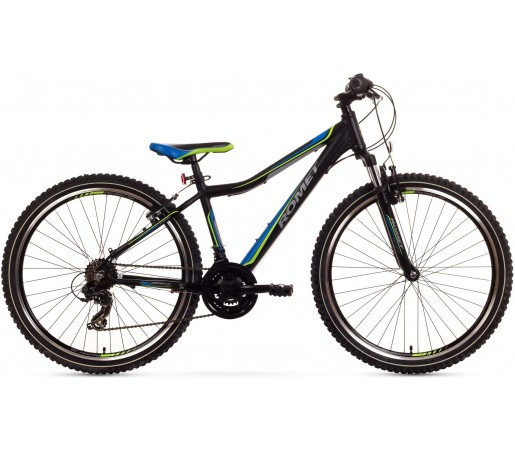 Bicicleta de munte Romet Rambler 26 JR Negru/Albastru