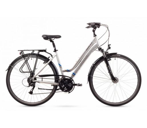 Bicicleta trekking Romet Gazela 3 Argintie 2016