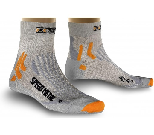 Sosete X-Socks Run Speed Metal Silver/Light Grey