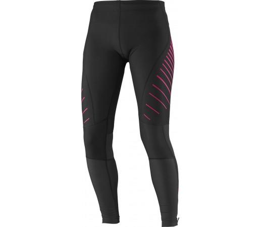 Pantaloni Salomon Endurance Tight W Roz-Negru