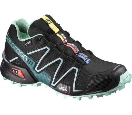 Incaltaminte alergare Salomon Speedcross 3 GTX W Negru/Verde/Albastru