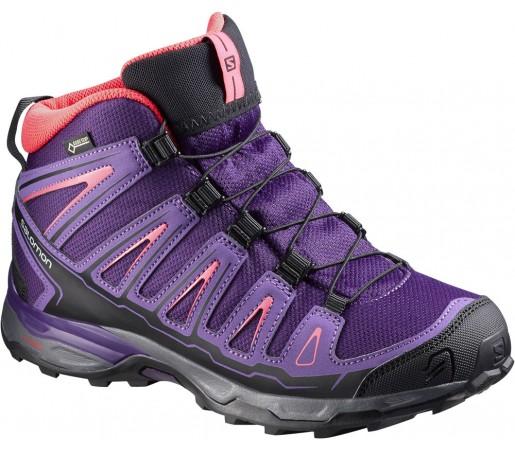 Incaltaminte hiking Salomon X-Ultra MID GTX J Violet/Roz