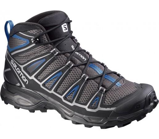 Incaltaminte hiking Salomon X Ultra Mid Aero Gri/Negru/Albastru