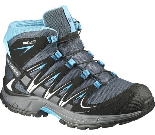 Incaltaminte hiking Salomon XA Pro 3D MID CSWP J Gri/Negru/Albastru