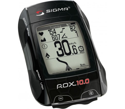 Ciclocomputer Sigma ROX 10.0 GPS Set Wireless Negru
