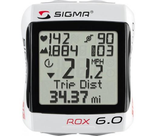 Ciclocomputer Sigma Rox 6.0 Wireless Alb