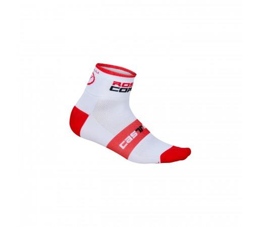 Sosete ciclism Castelli Rosso Corsa 6 Alb/Rosu