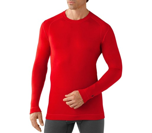 First Layer SmartWool NTS Mid 250 Crew Red