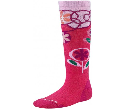 Sosete SmartWool Kids Wintersport Flower Patch Socks Pink
