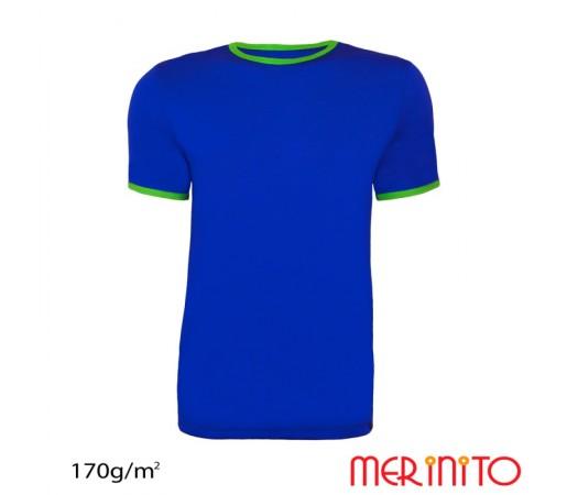 Tricou Barbati Merinito Albastru/ Verde