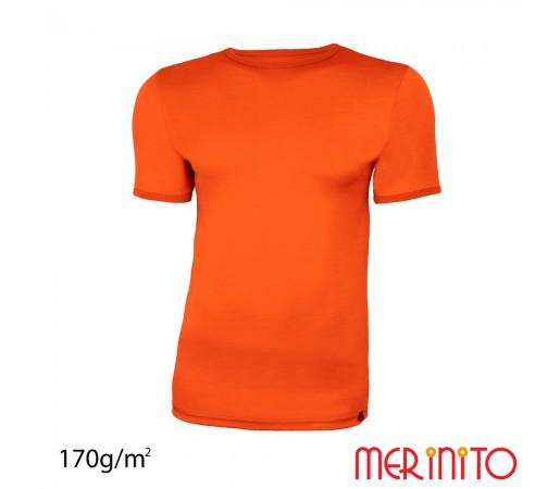 Tricou Merinito Barbati Portocaliu