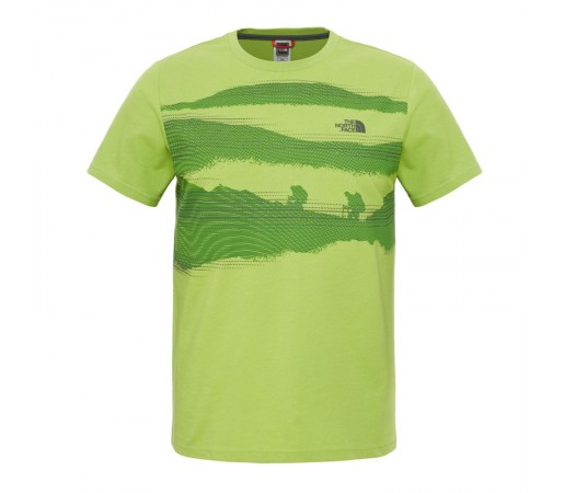 Tricou The North Face M S/S Mountain Scape Verde