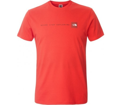 Tricou The North Face M S/S Never Stop Exploring Rosu