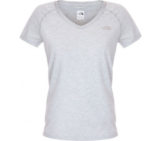 Tricou The North Face W S/S Reaxion V-Neck Gri