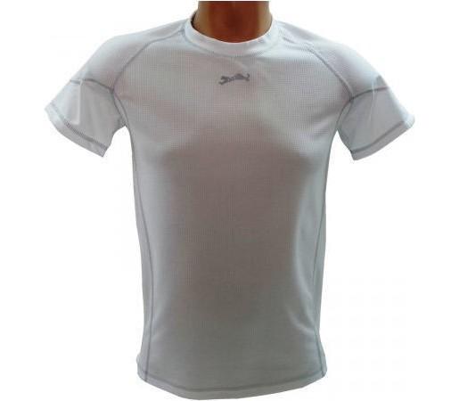 Tricou Bars Coolmax White