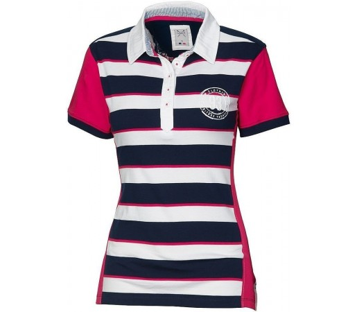 Tricou Crew Clothing GBR Striped Polo