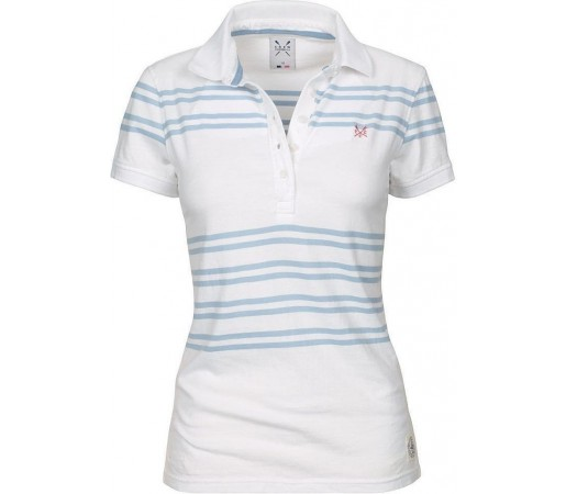 Tricou Crew Clothing Modern Polo White