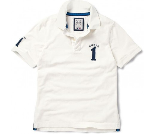 Tricou Crew Clothing Numbered Polo White