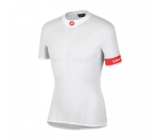First Layer ciclism Castelli Core Mesh SS Alb