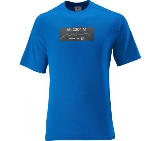 Tricou Salomon Manabi Logo Tee M Blue 2013