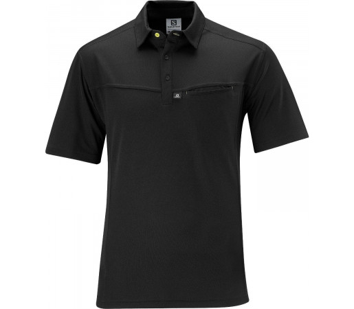 Tricou Salomon Manabi Polo M Black