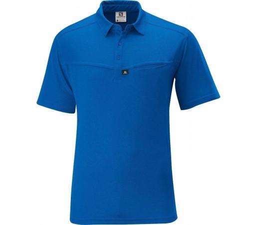 Tricou Salomon Manabi Polo M Blue