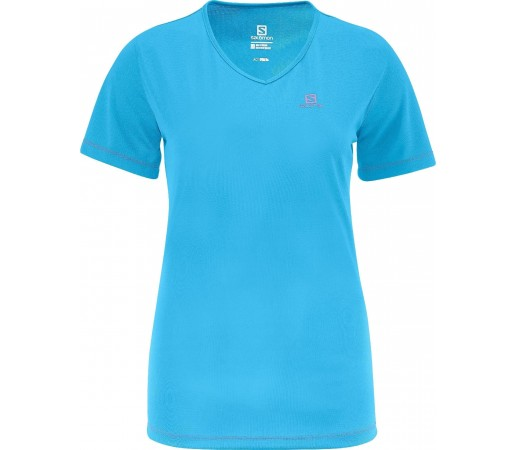Tricou Salomon Moto Tech Tee W Blue