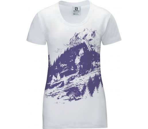 Tricou Salomon Mountlogo Tee W White