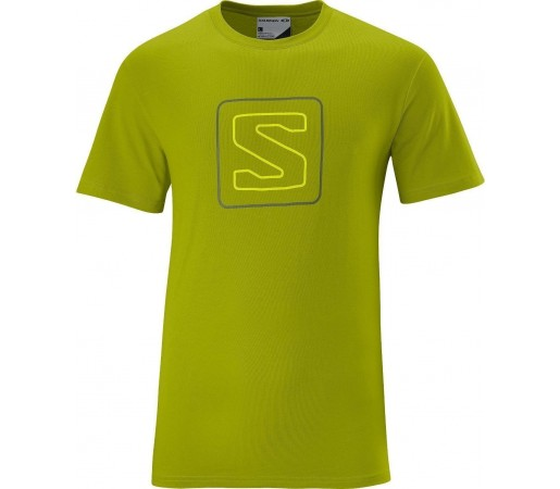 Tricou Salomon Poly Logo Tee M Lime 2013