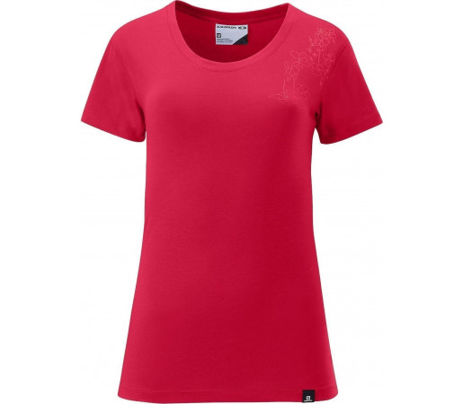 Tricou Salomon Poly Logo Tee W Red 2013