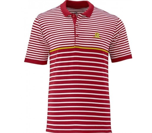 Tricou Salomon Stripe Polo M Red