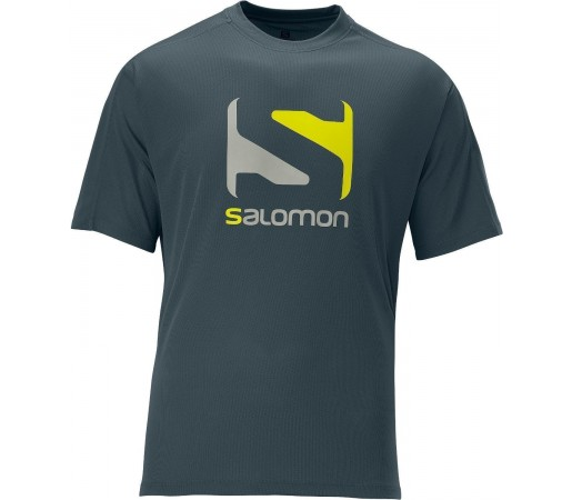 Tricou Salomon Stroll Logo Tee M Dark Cloud 2013