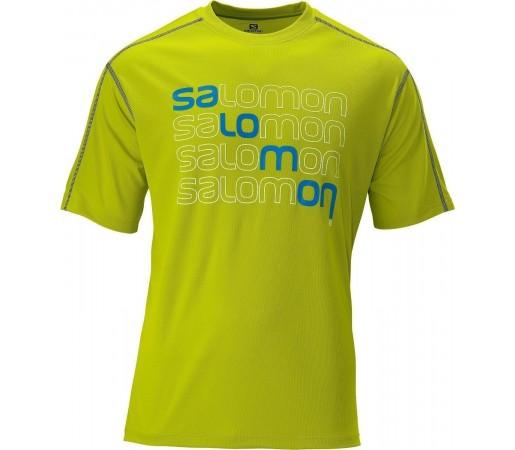 Tricou Salomon Stroll Logo Tee M Lime 2013