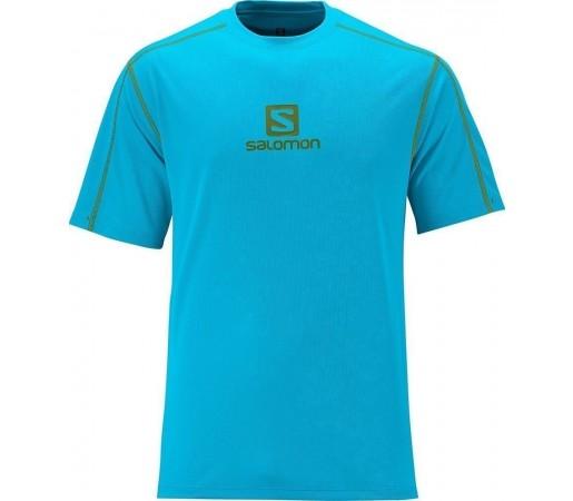 Tricou Salomon Stroll Logo Tee M Scuba Blue