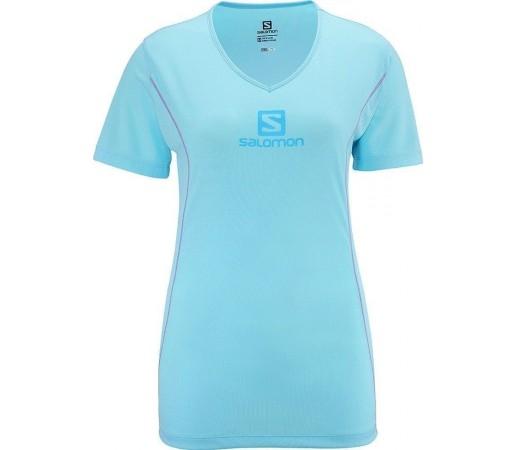 Tricou Salomon Stroll Logo Tee W Blue