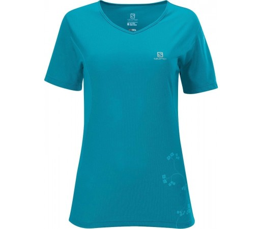 Tricou Salomon Stroll Logo Tee W Blue 2013