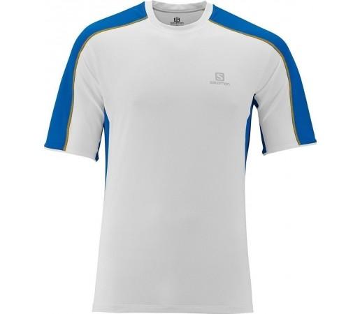 Tricou Salomon Trail Runner Tee M White- Blue